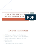 Caracteristicas de Docentes Memorables