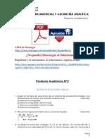 Álgebra Matricial y Geometría Analítica Producto Académico N°2