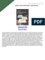 Atlas Historico Y Geografico Universitario