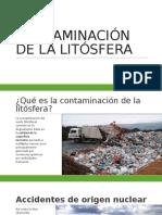 Contaminación de La Litósfera