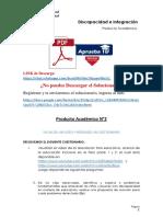 Discapacidad e Integración Producto Académico N°2
