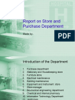 Report on Store and Purchase Department
