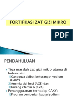 Fortifikasi Zat Gizi Mikro (Vit a, Fe, Iodium)