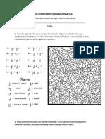 Guia Complementaria Matemática Suma y Restas de Fracciones