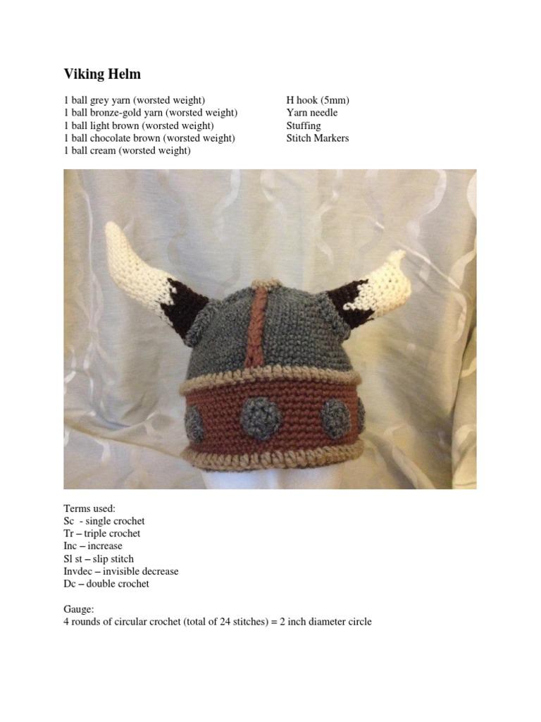 Viking Helmet crochet pattern | Crochet | Crafts