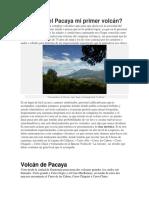 Pacaya Mi Primer Volcán