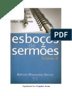 Esboços de Sermões Vol. 02 - Adelson Damasceno Santos