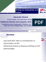 Nutzung schafft Erfolg im Enterprise 2.0 Eine empirische Analyse