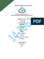 Foro Academico Practica de Psicologia Clinica I