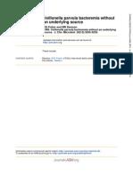 Veillonella parvula bacteremia