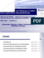 Wissenstransfer mit Weblogs in KMU