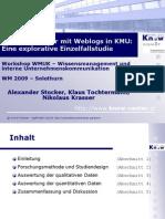 Wissenstransfer mit Weblogs in KMU