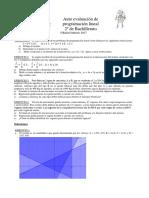 Auto Evaluación MCS II de Programación Lineal
