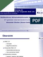 Stakeholder-Orientierung als Gestaltungsmerkmal für Corporate Web 2.0