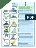 Natural Disasters Matching Exercises Icebreakers Oneonone Activities Picture Descriptio 42748