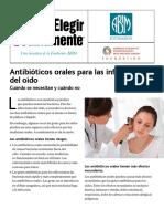 Antibioticos Orales Para Las Infecciones Del Oido AAOHNS