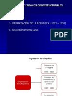 Organización Politica a Partir de 1823