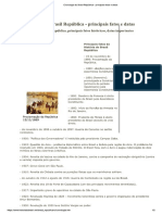 Cronologia Do Brasil República - Principais Fatos e Datas