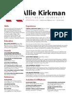 Allie Kirkman Resume
