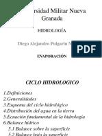 Ciclo Hidrologico - Balance de Agua