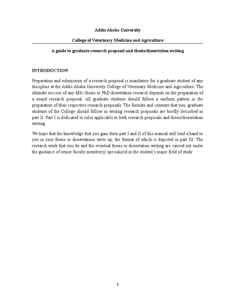 AAU Graduate Proposal and Thesis Writing Guide | Thesis