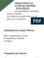 Introducción a La Redacción Del Informe Psicológico