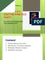 Chapter8&9 Enzyme Kinetics