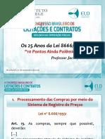 Slides - II CONGRESSO BRASILEIRO DE LICITAÇÕES E CONTRATOS_CASB