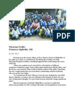 Physician Profile, Francisca MgBodile, MD Rev. 2