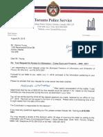Toronto Police FOIP Crime Gun Stats 2007 2017 Aug 24 2018