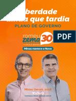 Romeu Zema Plano de Governo