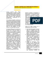 Lectura - Gestión de Evaluación y Control Del Territorio de Ventas