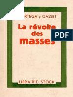 Ortega y Gasset José - La révolte des masses.pdf