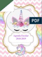 Agenda de Unicornio 2018