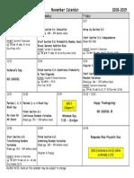 november calendar 18-19 ap stats pdf