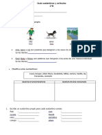 Guía Sustantivos y Artículos
