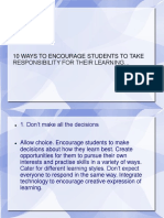 1o Ways t Encourege Students Ppt