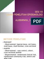 SESI 10 Disain Penelitian Epidemiologi Deskriptif