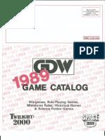 GDW 1989 Catalog