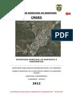 Estrategia Municipal de Respuesta a Emergencias 2012