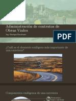 Administración de Contratos de Obras Viales