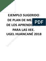 1 Ejemplo Referencial Del Plan de Mejora de Los Aprendizajes 2018 Para II.ee Ugelhuancané