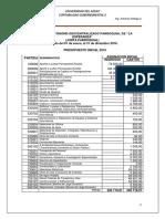 Cédula Presupuestaria