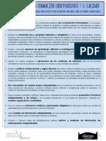Decálogo Formación Independiente