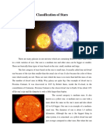 Classification of Stars