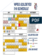 2019 Winnipeg Goldeyes Schedule