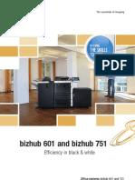 Brochure Bizhub 601 751