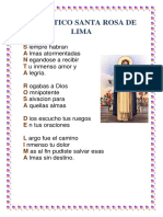 Acrostico Santa Rosa de Lima 1