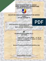 performance financiere d'une institution de microfinance en Republique Democratique du congo