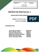 Practica 1. Reactores Químicos